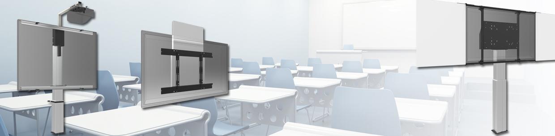 SmartMetals motoros tv és whiteboard konzolok