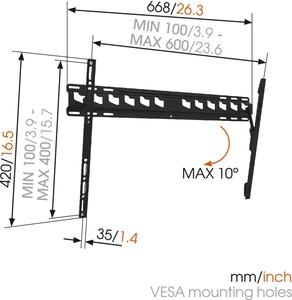 MA4010fali TV konzol 600X400 Vogel's